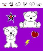 Little polar bear cartoon set1 — Wektor stockowy