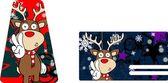 Xmas reindeer cartoon giftcard8 — Stock Vector