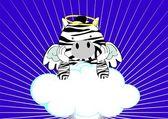 Zebra baby cute angel cartoon background — Stockvektor