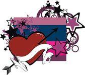 Sticker valentine heart copyspace5 — Stock Vector