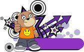 Kid teddy bear cartoon expression2 — Stock Vector