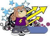 Kid teddy bear cartoon expression1 — Stock Vector