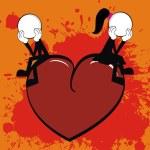 Valentine love cartoon background 4 — Stock Vector #63944373