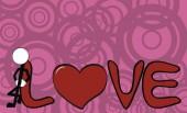 Valentine αγάπη κινούμενα σχέδια φόντο 2 — Διανυσματικό Αρχείο