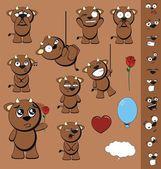 Bull kid cartoon background — Stockvector