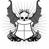 Skull bat wings sticker tattoo5 — Stock Vector