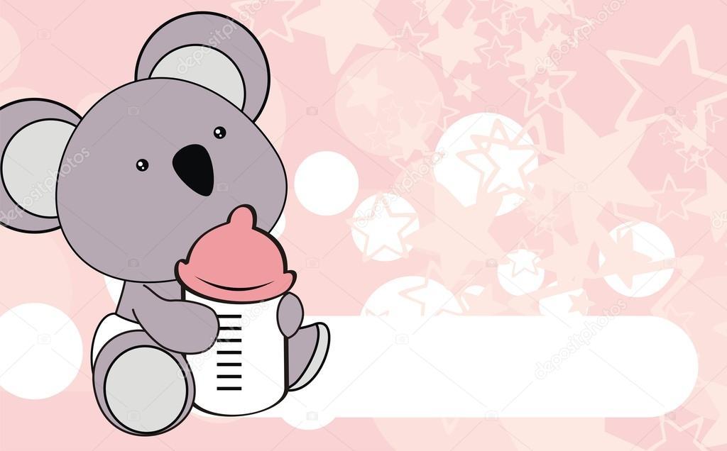 Fondo de dibujos animados lindo koala bebé — Archivo