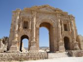 The Arch of Hadrian in Gerasa — Stock Photo