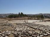 Forum (Oval Plaza) in Gerasa (Jerash), Jordan — Stock Photo