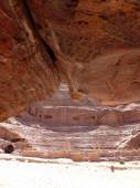 Roman theater arena in Nabatean Petra Jordan middle east — Stock Photo