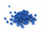 Blaue würfel — Stockfoto