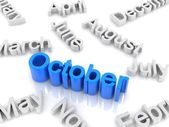 Text October — Stock Photo