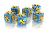 Percentagesymbool — Stockfoto
