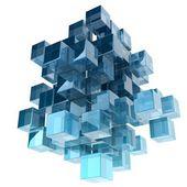 Szklane kostki — Zdjęcie stockowe