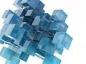 Cubi di vetro — Foto Stock