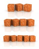 Wood cube — Stock Photo