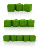 Grass cube — Stock Photo