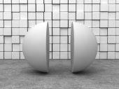White Semi sphere — Stock Photo