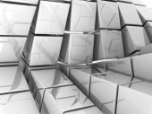 White cubes — Stock Photo