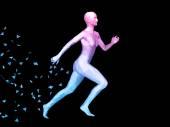 Abstrakt kvinnan kropp — Stockfoto