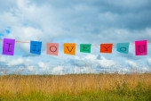 Signs I love you — Stockfoto