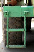 Coal mining truck ladder — Stock Photo