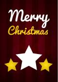 Christmas wish card vector illustration — Stock Vector