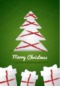 Christmas wish card vector illustration — Stok Vektör