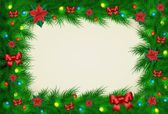 Christmas background with frame for image and text — Stock Vector