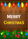 Christmas wish card vector illustration — Vettoriale Stock