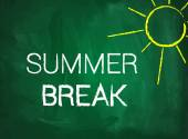 Summer break text on chalkboard — Stock Vector