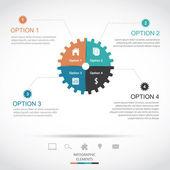 Gear Infographics — Stock Vector