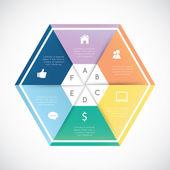 Modern hexagon infographics — Stock Vector
