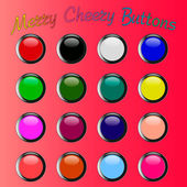 Colorful merry cheery shiny buttons — Stock Vector