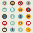 Icons set of web, business, design, office and marketing objects — Stock Vector #56924357