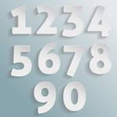 Vector paper numbers — Vettoriale Stock