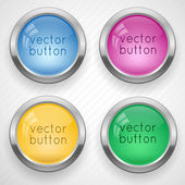 Vector glass colorful buttons. — Stock Vector