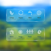Ecology icon set — Stock Vector