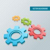Cogwheels on the grey background — Stock Vector