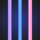 Glowing neon colorful border. — Stock Vector