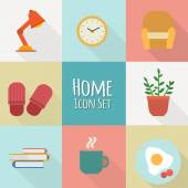 Home icon set. — Stock Vector