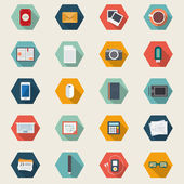 Icons set of web, business, design, office and marketing objects — Vetor de Stock