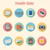 Travel and tourism icons set. — Cтоковый вектор