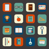 School studying icon set. — Vecteur
