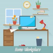 Home workplace — Stockvector