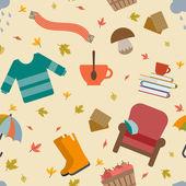 Autumn objects set — Stock Vector