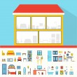 House in cut. — Stock Vector #59523453