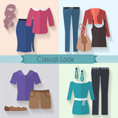 Woman clothing icon set. — Vetorial Stock