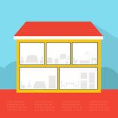 Empty house — Stock Vector