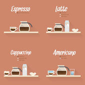 Coffee menu icon set — 图库矢量图片